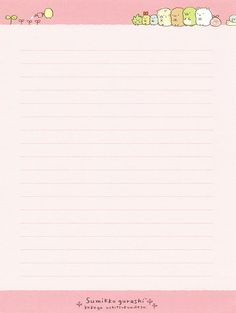 "San-X Sumikko Gurashi ""Natural"" Letter Set ( Stationary Printable, Printable Lined Paper, Printable Scrapbook Paper, Notebook Cover Design, Memo Notepad, Note Memo, Bullet Journal Notes, Cute Notes, Notes Design"