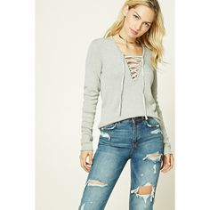 1774b534cb 26 Best Lace Up Sweater images