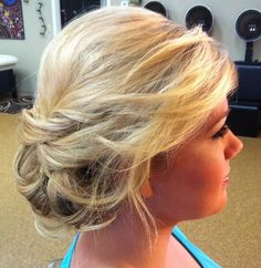 Wedding hair - i like the swept look with some tendrils