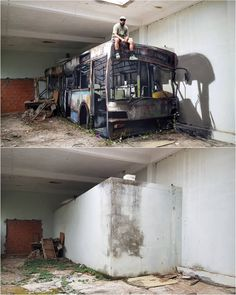 Do you believe its an art? The bus above is a drawn art on the wall below. I know youll doubt Do you believe its an art? The bus above is a drawn art on the wall below. I know youll doubt it. 3d Street Art, Street Art News, Amazing Street Art, Street Art Graffiti, Street Artists, Amazing Art, Best Street Art, Awesome, Arte Banksy