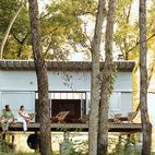 Pre Fab Architecture - Rocio Romero   The Fish Camp acts as the couple's forest getaway, just a quarter mile from their main house.