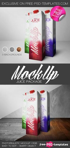 Free Juice Package Mock-up (72.3 MB) | free-psd-templates.com | #free #photoshop #mockup #juice #package
