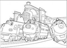 Free Online Printable Kids Colouring Pages - Train On Bridge ...