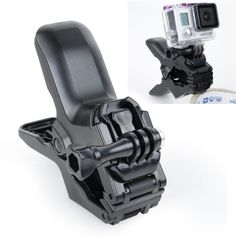 [USD4.57] [EUR4.13] [GBP3.24] TMC Jaws Flex Clamp Mount with Buckle & Thumb Screw for GoPro Hero 4 / 3+ / 3 / 2 / 1(Black)
