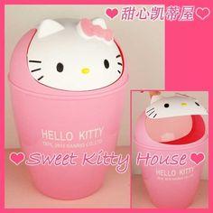 AMEI - Hello Kitty Cartoon Dustbin Ashcase Trashbox