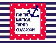 NAUTICAL CLASSROOM THEME - TeachersPayTeachers.com