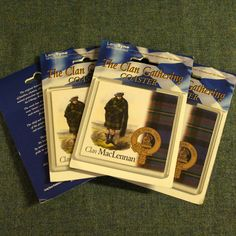 This4 pack of coasters feature the famous RR McIan clan print, crest and tartan.This is...