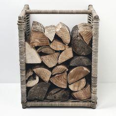Rustic Wide Rattan Log Holder
