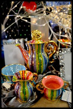 Your Heart's Desire - What a Lovely Tea Party.....Mary Rose Young Pottery at Shops of Baileywick