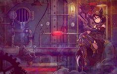 Science Fiction Steampunk  Fond d'écran