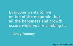 A Quote About The Mountain