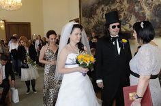 Aleš Brichta na svatebním obřadu