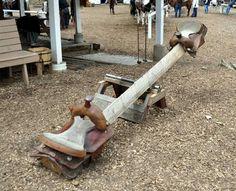 Diy saddle see-saw