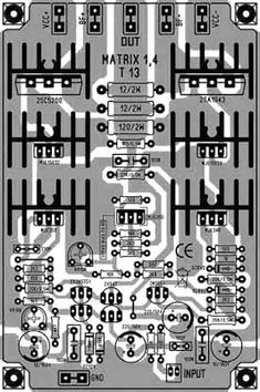 This is High Power Amplifier Output upto power output. The Power Amplifier Matrix has a character flat voice with low DCO (DC Offset) and low THD (Total Harmonic Distortion), visit here to view circuit diagram and PCB Layout design. Speaker Amplifier, Class D Amplifier, Stereo Speakers, Circuit City, Dc Circuit, Circuit Components, Matrix 1, Circuit Board Design, Powered Subwoofer