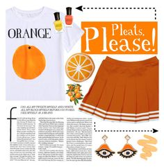 """Orange You Glad I Came"" by alexis-marie-burroughs ❤ liked on Polyvore featuring Nordstrom Rack, Dsquared2, Sigma, Deborah Lippmann and modern"