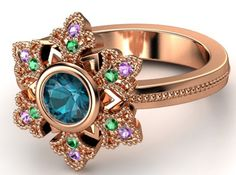 """Fans of Disney's """"Frozen"""" created beautiful rings inspired by the movie and its main characters -- Elsa, the Snow Queen of Arendelle, and her sister Princess Anna -- on customizable online jewelry site Gemvara."""