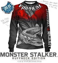 FISHBUM Fishing Clothing Presents – Monster Stalker Ruffneck Edition Fishing Jersey