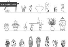 Vases - free AutoCAD Blocks