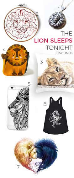 Etsy-Funde: the lion sleeps tonight — Pumora