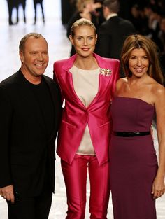 Project Runway, even after all of those seasons...still worthwhile watching... Michael, Nina & Heidi Klum