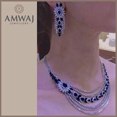 A stunning sapphire and diamond set from Amwaj Jewellery.  #jewelry #middleeast #beauty #luxury #uae #abudhabi #ksa #love #diamonds #wow #beautiful #happy #repost #family #women #pearls #dubai #style #russia #jewelry #model #gift #heart  #vip #bahrain #manama #watch