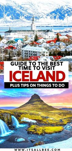 Visiting Iceland? Tips on best time to visit Iceland. Month by month temperature chart. Tips on what to pack, places to visit and where to stay in Iceland. #traveltips #guide #reykjavik #bluelagoon #hotspring #northernlights #tips #summer #spring #winter #glaciers #waterfalls