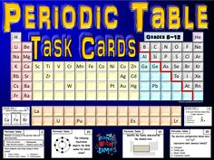 Periodic table amazing element race game periodic table periodic table task cards urtaz Choice Image