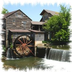 Getting a great bight from the Old Mill in Pigeon Forge