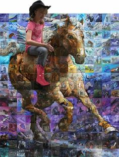 A Horse Mural! A galloping horse created by 174 artists. Buy the book and build it at home.  Featured Blaze Issue 25