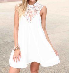 Chiffon stitching lace dress #BG102319
