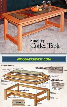 Slate Top Coffe Table Plans - Furniture Plans and Projects | WoodArchivist.com