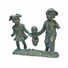 Swing Time: Children Garden Statue