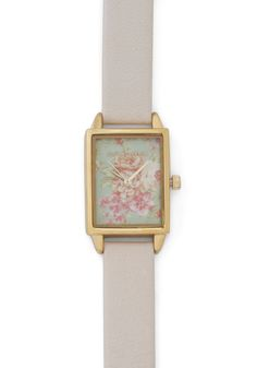 Bouquet of Hours Watch by Olivia Burton - White, Multi, Floral, Fairytale, International Designer, Leather, Vintage Inspired, Graduation
