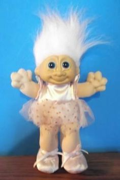 Russ Ballerina Troll Doll With Pink Hair And Blue Eyes Has On A Pink - Brought to you by Avarsha.com