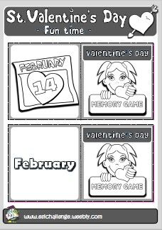 NEW! VALENTINE'S FUN PACK - memory game http://eslchallenge.weebly.com/valentines-fun-time.html