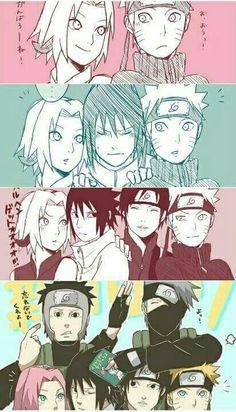 NARUTO SHIPPUDEN, Team 7, Sakura, Naruto, Sasuke, Sai, Yamato, Kakashi