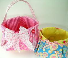 Fabric Basket PDF Sewing Pattern Tutorial ... with different