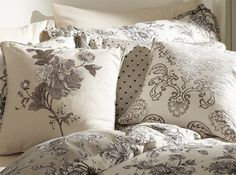 Aquitaine Charcoal Bed Cushion Cameo
