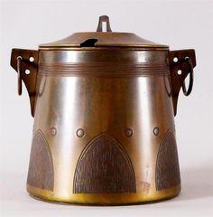 Circa 1905 Jugendstil Secessionist Copper Covered Tureen / Punch bowl