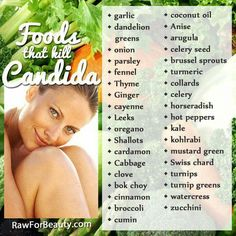 Here's your grocery list ;) Foods that fight Candida