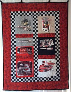 Datona 500 NASCAR Quilt Earnhardt T shirt Quilt Dale Earnhardt Jr. Dale Earnhardt 3 One of a Kind Handmade by TwoMadFish on Etsy https://www.etsy.com/listing/213432020/datona-500-nascar-quilt-earnhardt-t