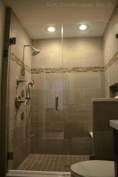 Bathroom by RJK Construction, Inc.   www.rjkconstructioninc.com.  www.facebook.com/rjkconstructioninc