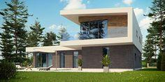 Zx70 to wyjątkowy dom z kategorii projekty domów nowoczesnych Home Fashion, Land Scape, Exterior, Mansions, House Styles, Outdoor Decor, Modern, Projects, Design