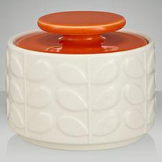 Orla Kiely Raised Stem Ceramic Sugar Jar, Cream/Orange on shopstyle.com.au