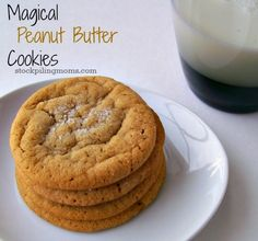 Paula Deen's Magical Peanut Butter Cookies are AMAZING!. These cookies have only 4 ingredients. They are flourless and gluten free plus low in carbs.