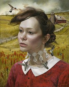 """Her Thoughts, They Hum"" by Andrea Kowch"