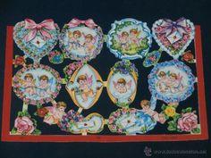 LAMINA CROMOS TROQUELADOS MLP-1592. BRILLO RELIEVE. ANGELITOS - Foto 1
