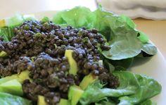 linssisalaatti marinoidut linssit
