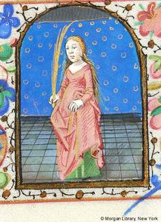 Zodiac Sign: Virgo -- Woman holding palm with right hand. Margins decorated with border of floreate ornament including rose.Book of Hours, MS I fol. - Images from Medieval and Renaissance Manuscripts - The Morgan Library & Museum Virgo Art, Zodiac Signs Virgo, Medieval Books, Medieval Art, Virgo Women, Life Of Christ, Morgan Library, G 1, Book Of Hours