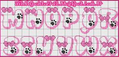 Dinha Cross Stitch: Cat Marie Graphic e Monogram Cross Stitch - Alfabeto ponto cruz - Monogram Cross Stitch, Cross Stitch Alphabet Patterns, Cross Stitch Baby, Bead Loom Patterns, Stitch Patterns, Free Printable Letter Stencils, Plastic Canvas Letters, Crochet Letters, Gata Marie